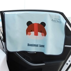 보니멀랜드 UV차단 차량용 햇빛가리개 커튼