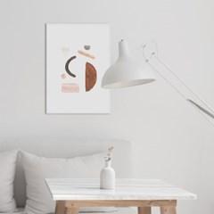 페블핑크 추상화 인테리어 액자 그림 포스터