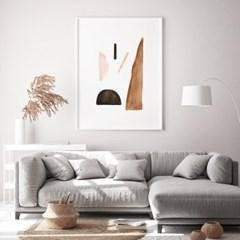 페블브라운 추상화 인테리어 액자 그림 포스터