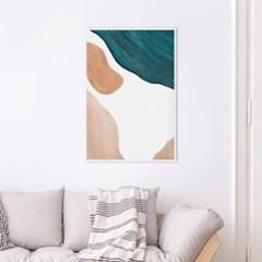 에메랄드 추상화 인테리어 액자 그림 포스터
