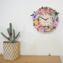 꽃리스 벽시계