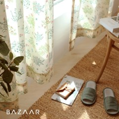 모로코 광목 가리개 커튼(창문형/긴창형)1장+끈