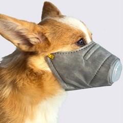 애완견 미세먼지 방지용 마스크(3중 필터 내장)