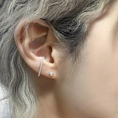 심플 미니 볼 귀걸이(실버92.5)