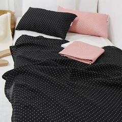 삼각 패턴 이중거즈 홑 이불 - 2color