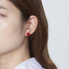컬러 장미꽃 귀걸이