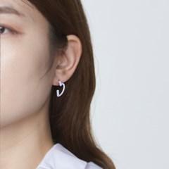 컬러 하트 링 귀걸이S