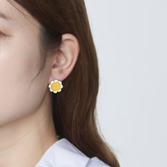 옐로우 해바라기 귀걸이