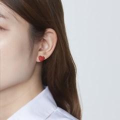 컬러 하트 귀걸이
