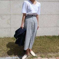 Baguette linen long skirt(린넨100%)
