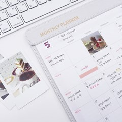 [펜홀더형/화이트] MY PLAN_MONTHLY PLANNER