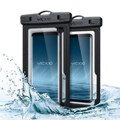 1+1 IPX-8등급 스마트폰 방수팩 P1 블랙+블랙