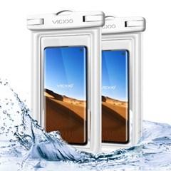 1+1 IPX-8등급 스마트폰 방수팩 P2 화이트+화이트