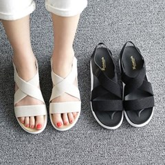 kami et muse Elastic band comfort wedge sandals_KM19s149