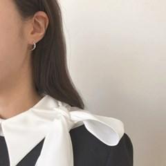 [원터치 링 귀걸이] 우디 이어링
