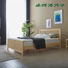 헬린 원목 침대 퀸Q-필로우탑 매트리스 포함_(1126487)