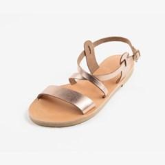 One Front Strap Sandal (rose gold)