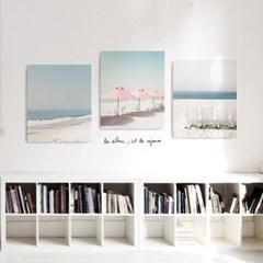 캔버스 바다 해변 파도 풍경 빈티지 액자 릴렉스 no.3