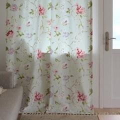 [Curtain] 코튼 플로랄 커튼 - 매그놀리아