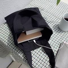 Linen Tote Bag (BLACK)