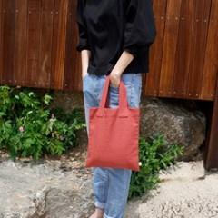Linen Tote Bag (CORAL)