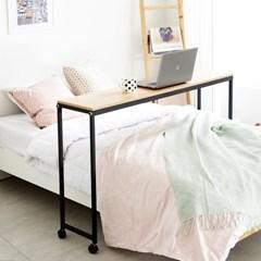 이동 테이블 침대 베드트레이 보조테이블 노트북 철제_(2280606)