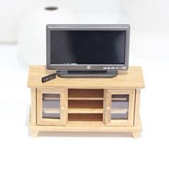미니어쳐 TV 장식장(TV 리모컨 포함)