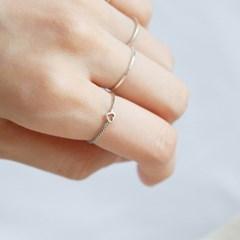Silver mini heart ring (실버 미니 하트 반지) [92.5 silver]