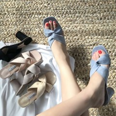 kami et muse Cross soft strap heel slippers_KM19s169