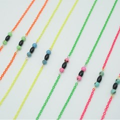 Neon twin ball glasses chain