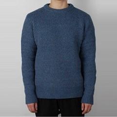 17FW 아크네 NYLE 헤링본 울 스웨터 (남성/블루)29F173 WOOL BLUE