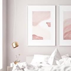 핑크레이어 추상화 그림 인테리어 액자 포스터