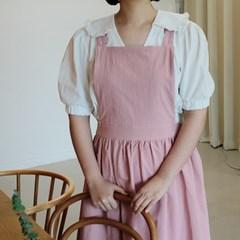 루나 앤 린넨 앞치마 핑크_(2178774)