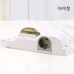 아이정 현대 방수방진 고용량 멀티탭 누전차단 2구 1.5m_(2454111)