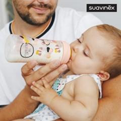[스와비넥스] 퍼피프렌즈 신생아용 젖병 150ml (실리콘)_(1337797)