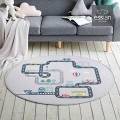 에시앙 3D 에어메쉬 도로매트 놀이매트 (원형)_(825242)