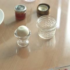 에그파티_ 글라스 브런치 플레이트 계란받침대