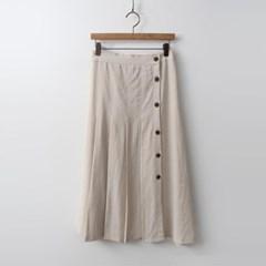 Linen Pleats Long Skirt