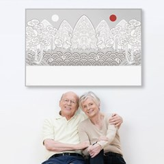[강경숙칠판] 다그 일월오봉도 100x150