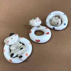 [일본] 여름 고양이 젓가락받침(레드/블루/오렌지)