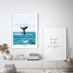 바다 고래 풍경 액자 인테리어 그림 포스터