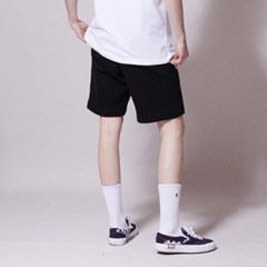 SP057_Wave Logo Banding Shorts_Black