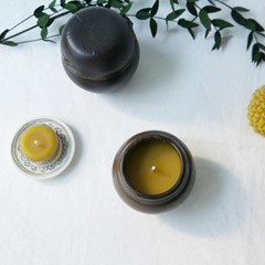 [Honey Bees Candle] 항아리 밀랍초