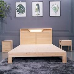 달빛마루 K 킹 LED조명 편백나무침대
