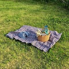 린넨 체크 피크닉 매트(Linen check picnic mat)