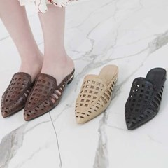kami et muse Square punching stiletto slippers_KM19s185