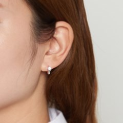 [925실버] 실버 큐빅 미니원터치 귀걸이