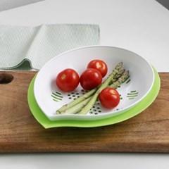 나뭇잎 다용도 채반 접시 2size 야채소쿠리