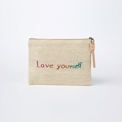 Jute Pouch_Natural Pink