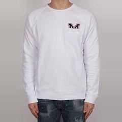 18SS MSGM M 로고 맨투맨 (남성/화이트) 2440MM65X 184298 01